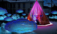 1er Water light festival de Brixen